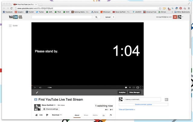 ▶ First YouTube Live Test Stream - YouTube