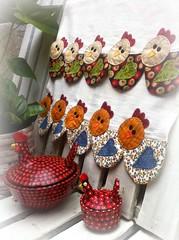 PaNoS De PrAtO GaLiNhAs (DoNa BoRbOlEtA. pAtCh) Tags: chicken handmade application patchwork cozinha galinhas aplicao panosdeprato donaborboletapatchwork denyfonseca