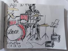 Jazzon Five, II (AstridSeijas) Tags: music musicians drawing jazz música músicos urbansketchers