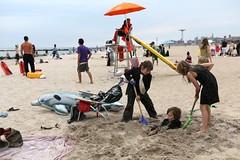IMG_4925 (yiching.lin) Tags: nyc newyorkcity summer brooklyn fun coneyisland sand waves dress august fancy improv tux blacktie flashmob improveverywhere 2013 blacktiebeach2013