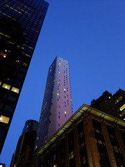 (Shane Henderson) Tags: newyorkcity newyork tower architecture night corner skyscraper buildings lights manhattan midtownmanhattan internationalpaperbuilding sofitelnewyork cassahotelresidences lewiscongerbuilding