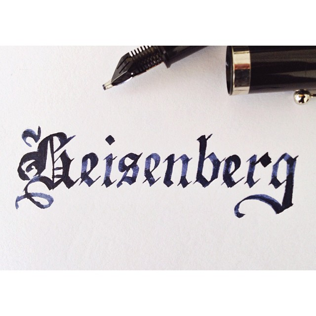 Practicing blackletter and looking forward to the Breaking Bad finale on this lovely public holiday!
