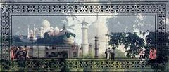 Liebe in Marmor verewigt. Taj Mahal.