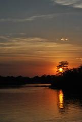 Sunset at the Okavango (pcaldeira) Tags: africa light sunset sky sundown calm namibia reflexion stillness okavango caprivi pcaldeira africanrivers