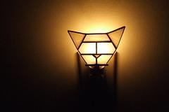 Hex Cat Stained Glass Night Light (westernartglass) Tags: geometric glass nightlight etsy westernartglass opalescentglass hexcat brianwestern westernartglassetsycom catnightlight