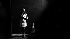 Praying in the dark... with two eyes @Karineferri #paris (nikosaliagas) Tags: