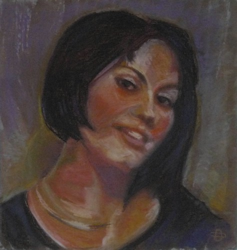 Dorina Padineanu,Painter, Claudia Portrait,pastel