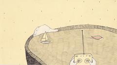 5 (misantropialieve) Tags: sea lake water pool illustration pencil boats boat barca drawing barche acqua