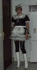 French maid in PVC (Felicia Colette) Tags: uniform boots cd sissy transvestite maid crossdresser pvc frenchmaid sissymaid tgurl pvcstockings