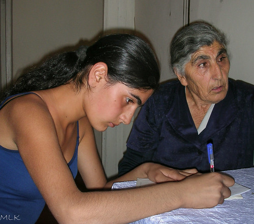 Lida with her granddaughter