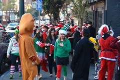 Santa Girls (AmyKClark!) Tags: sanfrancisco christmas street costume many candid santacon