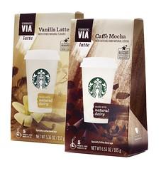 Starbucks Via Lattes (FoodBev Photos) Tags: coffee via starbucks mocha drinks latte beverages vanillalatte