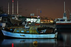 "colors and reflections of ""Mrs Night"" (Love me tender .**..*) Tags: winter light sea colors night reflections boats photography december noflash greece hdr piraeus dimitra floisvos 2013 kastella palaiofaliro mygearandme mygearandmepremium nikond3100 flickrstruereflection1 kirgiannaki"