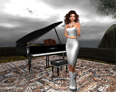 The piano near the sea, a dream (Dyana Serenity Blogger Second Life Busy RL <3) Tags: hair blog dress mesh dream blogger secondlife jewerly solaria amacci dyanaserenity virtualimpressionss linealrisedesign
