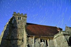 St Georges and Star Trails (hov1s@) Tags: church medieval stgeorges isleofwight startrails iow arreton