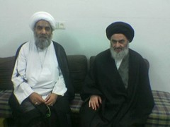 Sheikh with Grand Ayatollah Shirazi