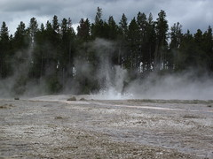 Bead Geyser in eruption (1:02 PM on, 3 June 2013) 17 (James St. John) Tags: bead geyser pink cone group lower basin yellowstone hotspot volcano wyoming erupt erupts erupting eruption eruptions