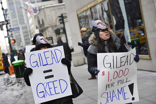 Gilead Sovaldi Protest - New York (2/12/14)