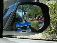 Drive-Thru, Phoenix Arizona (Blinking Charlie) Tags: arizona usa phoenix drivethru sidemirror 2012 inandout chevyss canonpowershots100 blinkingcharlie {vision}:{outdoor}=0938 {vision}:{car}=0815