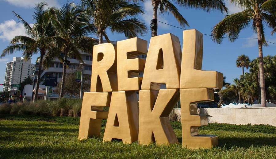 Скульптура Скотта Ридера Real Fake
