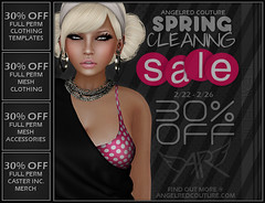 AngelRED Couture SPRING CLEANING SALE (AngelRED Couture) Tags: world life autumn winter black game fall college fashion promotion 30 store video 3d spring clothing promo discount model lab break mesh modeling sale heather linden free off full cleaning sl clean gaming credit secondlife virtual giveaway rig labs second rockabilly perm friday dae couture ll lexi inc crawford rigging permission breen preview rigged mmorpg obj mmo caster freebie fitted hiner zelin angelred bloodapplekiss
