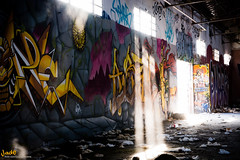 Urbex- Aztec Art (JadeOrlekawa) Tags: life city pink red urban abandoned dark graffiti photo duck amazing women photographie place aztec graf full terror graff galery abandonned urbex abandonedplace artgalery
