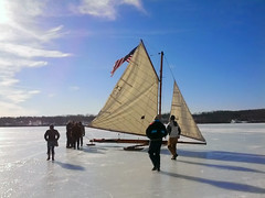 Ice boating on the Hudson, March 3, 2014 (Watershed Post) Tags: hudsonriver iceboating iceyachting