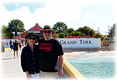 GRAND TURK PIER (marsha*morningstar) Tags: couple marriage celebrate 50thanniversary carnivalcruise easterncarribean cruise2014