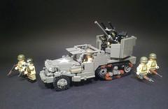 M15A1 Halftrack (Project Azazel) Tags: america us google lego military pa prototype american armor ww2 vehicle guns ba custom armour aa halftrack p