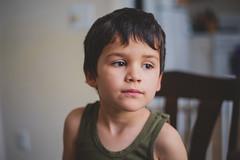 Thoughtful (Daniel A Ruiz) Tags: boy portrait brown eyes sad looking emotion bokeh thoughtful indoor emotional
