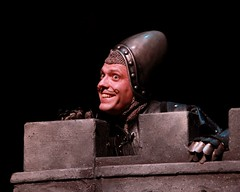 """Mika Duncan as the French Taunter in the 2010 Music Circus premiere of the Tony Award-winning Best Musical """"Monty Python's Spamalot"""" at the Wells Fargo Pavilion, July 9-18.  Photo by Charr Crail."""