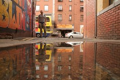 collapsibility (maybemaq) Tags: street city longexposure ireland windows summer urban dublin man motion reflection bus brick window coffee car bike june yellow rock wall point puddle graffiti mirror calle cafe movement alley europe downtown strada colours afternoon traffic camino geometry path weekend camden bricks sunday perspective coffeeshop double structure symmetry backstreet brickwall motorcycle layer layers walls passage vanishing barista folding doubledecker dogwalk weekendbreak waterreflection lowangle foldable walkingdog éire camdenstreet baileáthacliath wetreflection maybemaq ordinarysunday collapsibility thebaldbaristacafe