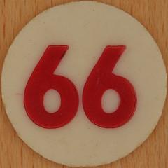 Bingo Number 66 (Leo Reynolds) Tags: xleol30x squaredcircle number numberbingo xsquarex bingo lotto loto houseyhousey housey housie housiehousie numberset 66 sqset120 60s canon eos 40d xx2015xx xxtensxx sqset
