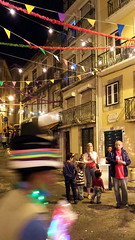blur (valeriadalua) Tags: street family decorations party people blur portugal lisboa lisbon festas sardines stanthony sardinhas santoantnio festasjuninas santoantniodelisboa festasdelisboa