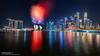Love At First Light (t3cnica) Tags: city longexposure bridge panorama architecture landscapes intense singapore downtown glow fireworks cityscapes financialdistrict esplanade goldenjubilee dri mbs nationalday marinabay dynamicrangeincrease exposureblending digitalblending marinabaysands esplanadeoutdoortheatre sg50