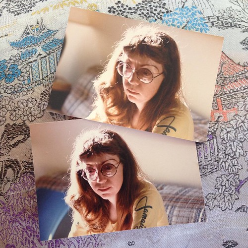 My mama in a sunbeam. It's always something when you find new/old photographs of someone you lost. Little windows into a time when they lived in that body. Tomorrow is her death-day. 8.8.86.