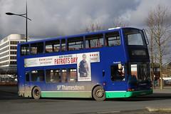 SN51 AYP, Fleming Way, Swindon, February 16th 2017 (Southsea_Matt) Tags: sn51ayp 366 thunderbolt route19 alexanderdennistrident plaxtonpresident thamesdown goahead flemingway swindon wiltshire england unitedkingdom february 2017 winter canon 80d 24105mm bus omnibus vehicle publictransport passengertravel