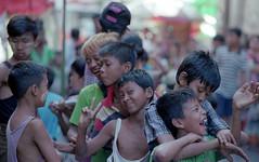 Gifted Kids ((Jean) Rooble) Tags: ae1 analogic ae1p analog asia 35mm rangoon yangon myanmar ishootfilm istillshootfilm primelens portra canon city v550 burma birmanie bokeh 2015 travel travelphotograph kids street streetshot