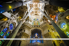 Sagrada Família, Barcelona (Naomi Rahim (thanks for 3 million visits)) Tags: barcelona spain españa europe europa 2016 travel travelphotography nikon nikond7200 wanderlust church architecture gaudi antonigaudi sagradafamília interior windows stainedglass light