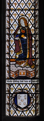 Munslow, Shropshire, St. Michael's church, north aisle, east window, detail