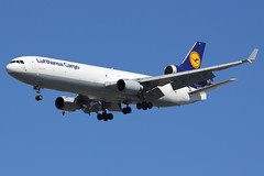 "D-ALCF | McDonnell Douglas MD-11F | Luthansa Cargo ""Marhaba Egypt"" (cv880m) Tags: kennedy jfk kjfk airliner airplane jetliner aircraft newyork dalcf mcdonnell douglas boeing md11 m11 m1f md11f freighter aircargo lufthansa lufthansacargo marhaba egypt trijet winglet dlh"
