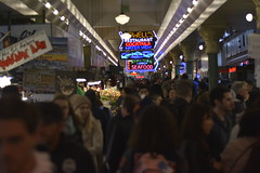 busy people (datmattlovelltho) Tags: nightlife pnw depthoffield colors pikesplace pikeplace seattle