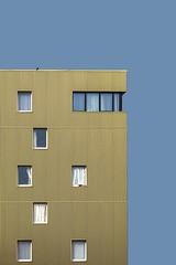 Le pigeon qui avait échappé à la cocotte...... (Isabelle Gallay) Tags: architecture urban urbain city ville building street streetphotography wall mur windows fenêtres pigeon bird oiseau sky ciel aquitaine gironde bègles fuji fujifilm fujixt1