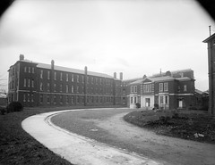 """Institutional style building in an unknown location"" is a military hospital, Dublin (National Library of Ireland on The Commons) Tags: ferguso'connor ferguso'connorcollection glassnegative nationallibraryofireland st bricins military hospital homeless hostel salvation army kinggeorgevhospital militaryhospital stbricinsmilitaryhospital arbourhill richardhenrychapmanhall medicalcorps irisharmy defenceforces locationidentified harrybellmeasures inexplore"