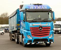 Mercedes Actros Alfred Hymas True Blue YA16SBO Frank Hilton IMG_5048 (Frank Hilton.) Tags: classic truck lorry eight wheel maudsley aec atkinson albion leyalnd bristol austin outside heavy haulage crane 8 axle
