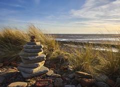 Hightown Dunes (Maggie's Camera) Tags: rocks sculpture beach dunes sea sky grass hightownmerseysidemarch2017