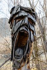 Coup de gueule (patoche21) Tags: autriche tyrol voyages zillertal artmoderne bois gueules homme sculpture statue visage europe art modern wood carver man face patrickbouchenard austria riverart