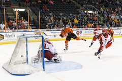 "Missouri Mavericks vs. Allen American, March 22, 2017, Silverstein Eye Centers Arena, Independence, Missouri.  Photo: © John Howe / Howe Creative Photography, all rights reserved 2017 • <a style=""font-size:0.8em;"" href=""http://www.flickr.com/photos/134016632@N02/33565521966/"" target=""_blank"">View on Flickr</a>"