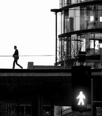 Go (CoolMcFlash) Tags: streetphotography person silhouette candid trafficlight walking go moment timing erstebank campus vienna austria bnw bw blackandwhite blackwhite building architecture architektur kontur ampel gehen wien österreich sw schwarzweis monochrome fotografie photography fujifilm xt2 xf 18135mm f3556r lm ois wr ampelmännchen juxtaposition