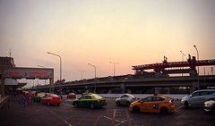all away from home (Fa.bian) Tags: bangkok international airport don mueang taxis thailand sunset terminal 2 southeast asia
